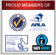 Proud members of ARLA, NALS and The Property Ombudsman for Lettings